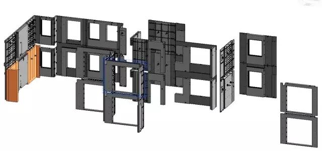 bim技术在装配式建筑中的强大功能  通过总体模型的建立,可以确定构件