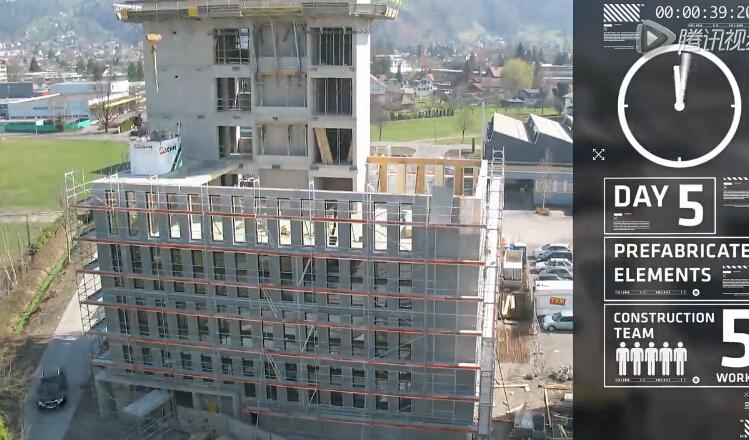 8天完成8层全木结构lct大楼