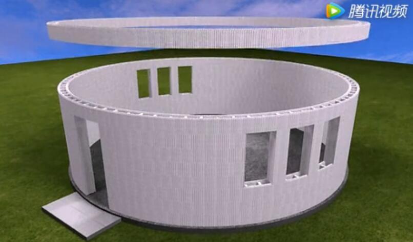 装配式eps模块混凝土结构蒙古包施工